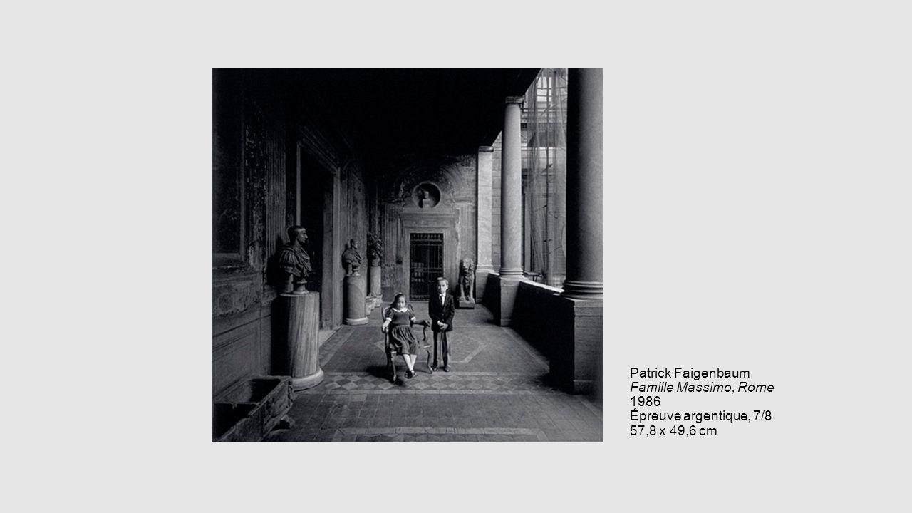 Patrick Faigenbaum Famille Massimo, Rome 1986 Épreuve argentique, 7/8 57,8 x 49,6 cm