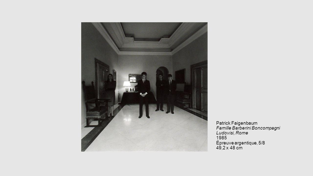 Patrick Faigenbaum Famille Barberini Boncompagni Ludovisi, Rome 1985 Épreuve argentique, 5/8 49,2 x 48 cm