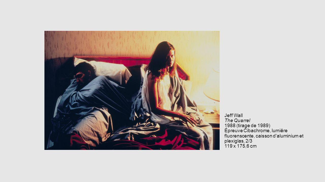 Jeff Wall The Quarrel 1988 (tirage de 1989) Épreuve Cibachrome, lumiêre fluorenscente, caisson d'aluminium et plexiglas, 2/3 119 x 175,6 cm