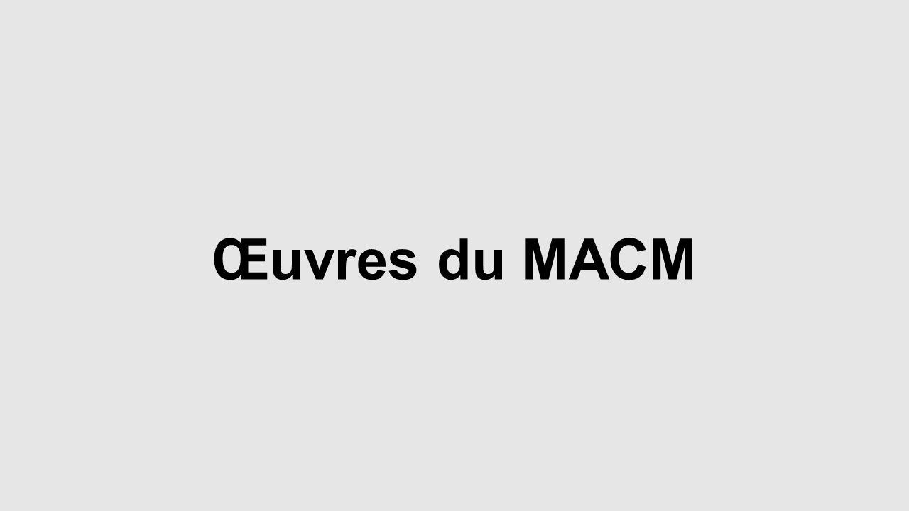 Œuvres du MACM