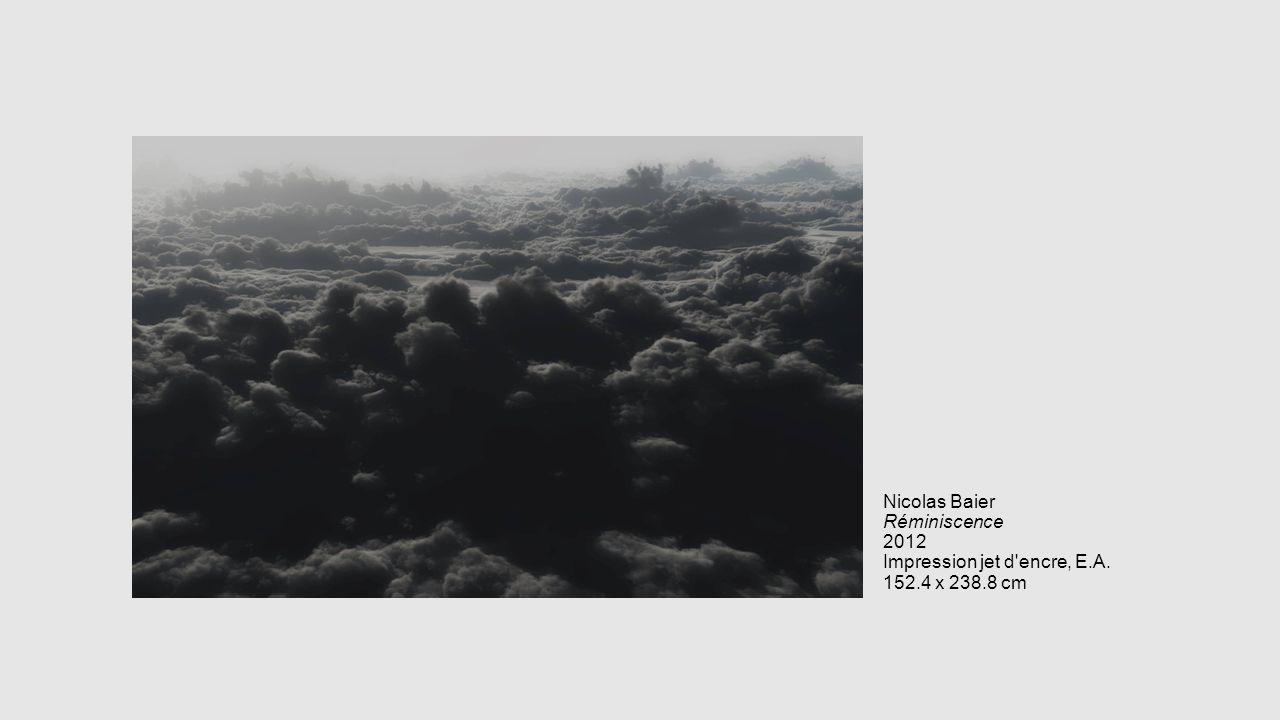 Nicolas Baier Réminiscence 2012 Impression jet d'encre, E.A. 152.4 x 238.8 cm