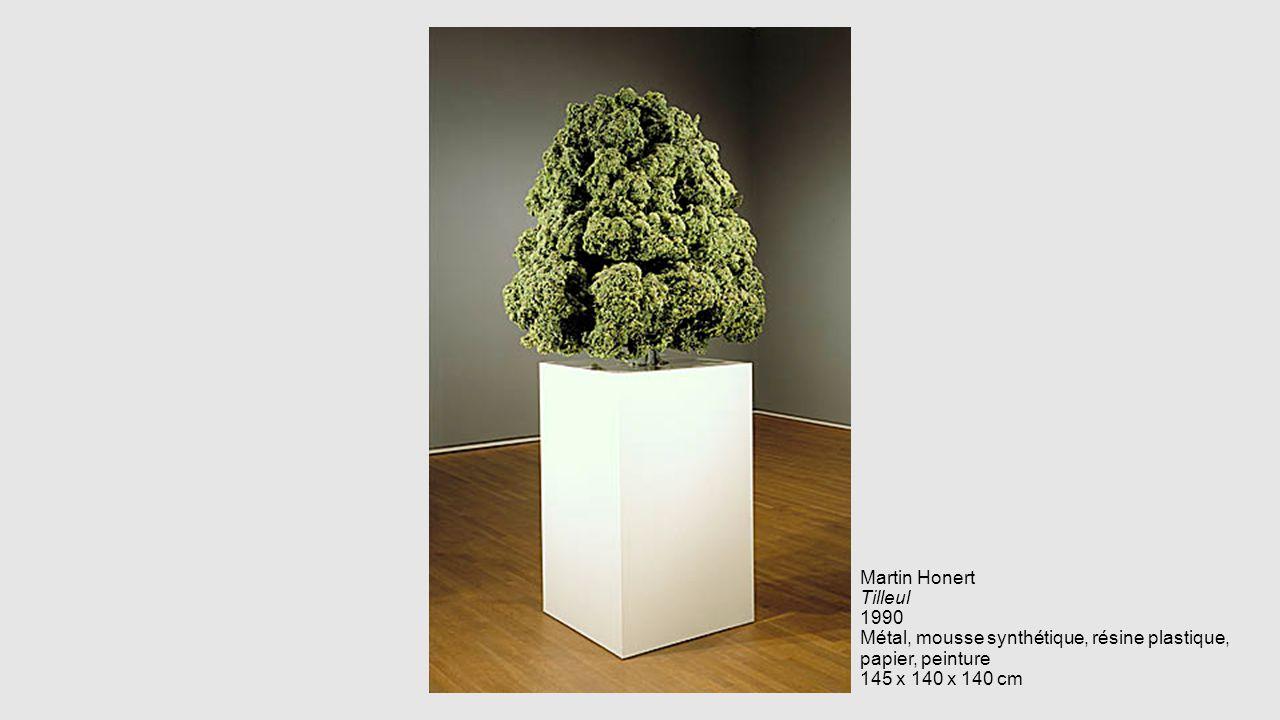 Martin Honert Tilleul 1990 Métal, mousse synthétique, résine plastique, papier, peinture 145 x 140 x 140 cm