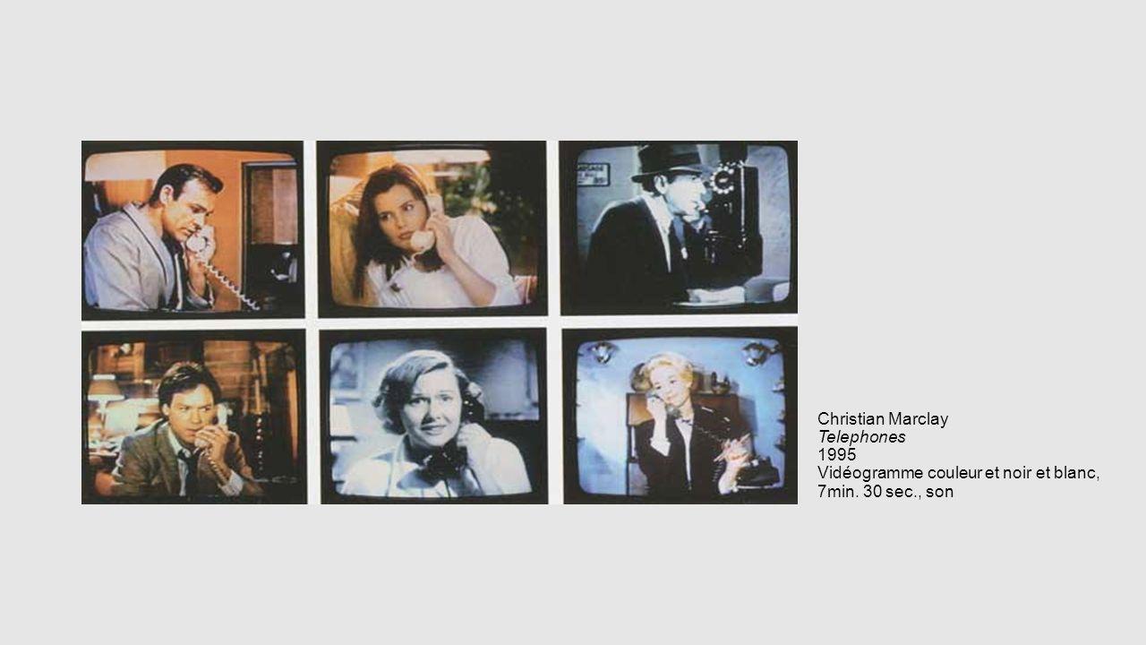 Christian Marclay Telephones 1995 Vidéogramme couleur et noir et blanc, 7min. 30 sec., son