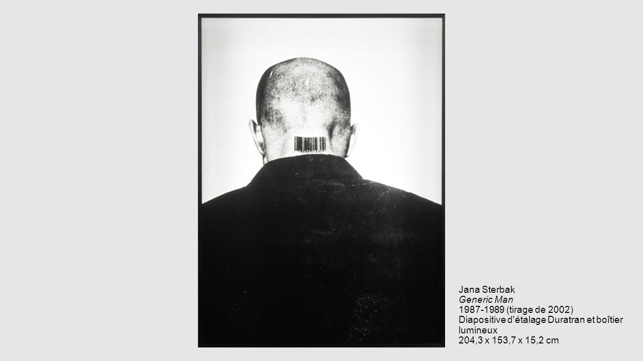 Jana Sterbak Generic Man 1987-1989 (tirage de 2002) Diapositive d'étalage Duratran et boîtier lumineux 204,3 x 153,7 x 15,2 cm