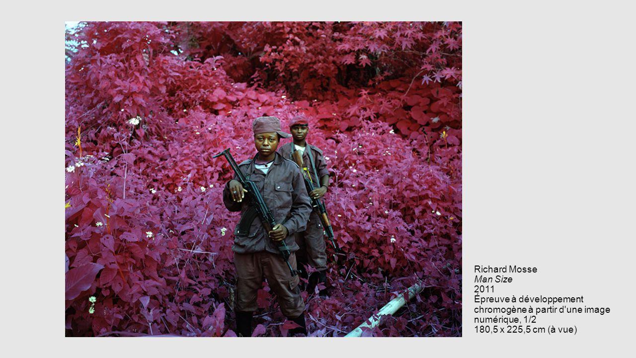 Richard Mosse Man Size 2011 Épreuve à développement chromogène à partir d'une image numérique, 1/2 180,5 x 225,5 cm (à vue)