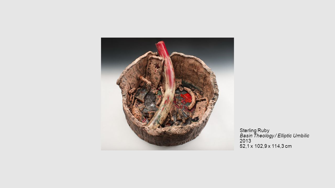 Sterling Ruby Basin Theology / Elliptic Umbilic 2013 52,1 x 102,9 x 114,3 cm