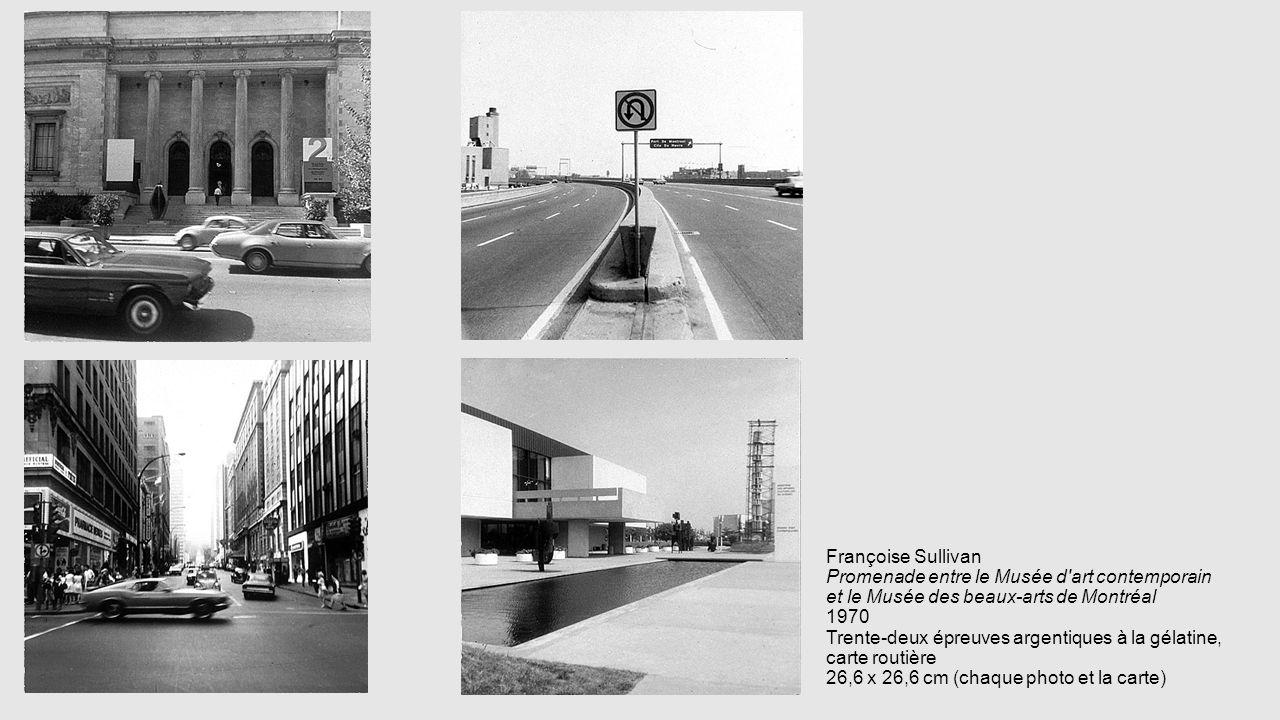 Françoise Sullivan Promenade entre le Musée d'art contemporain et le Musée des beaux-arts de Montréal 1970 Trente-deux épreuves argentiques à la gélat