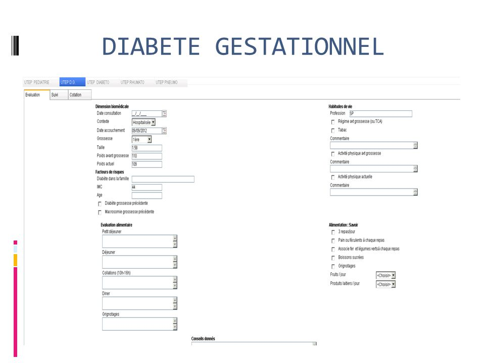 DIABETE GESTATIONNEL