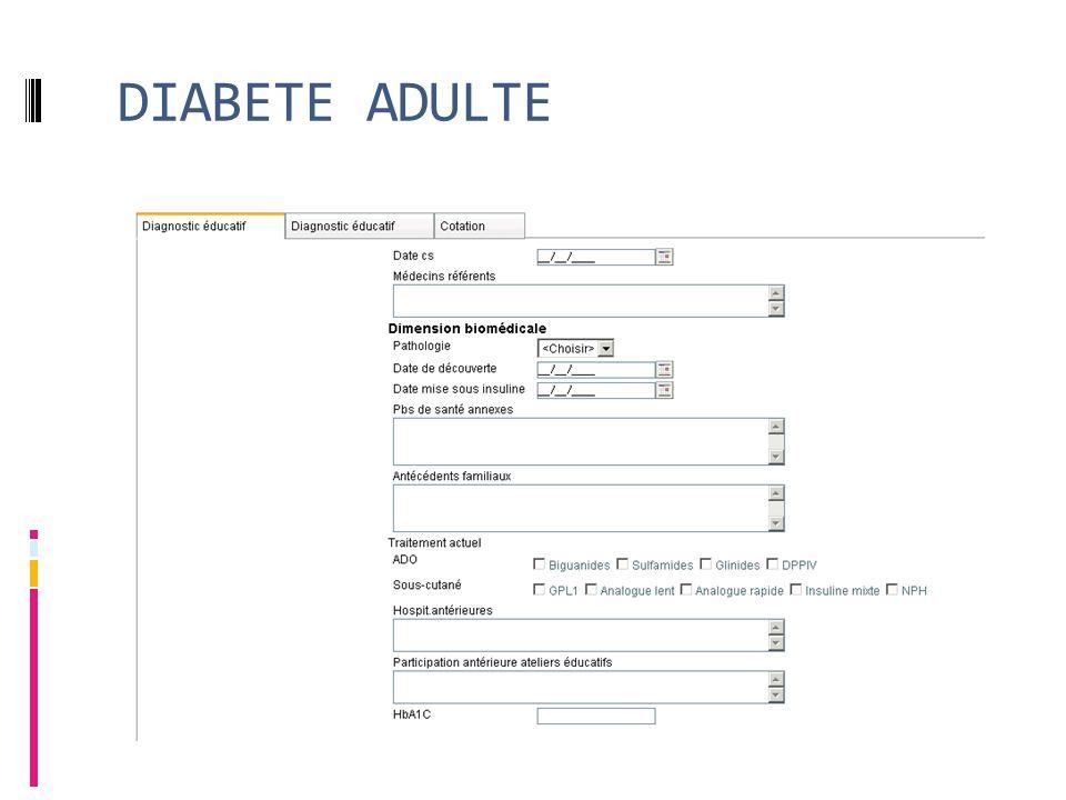 DIABETE ADULTE