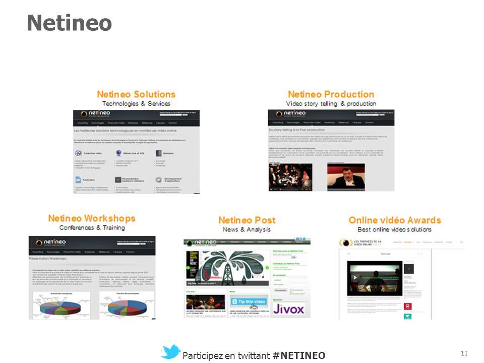 10 Participez en twittant #NETINEO Participez et commentez les interventions en twittant le hashtag #NETINEO