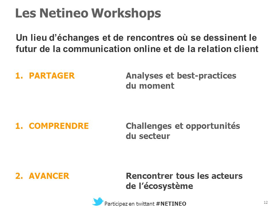 11 Participez en twittant #NETINEO Netineo