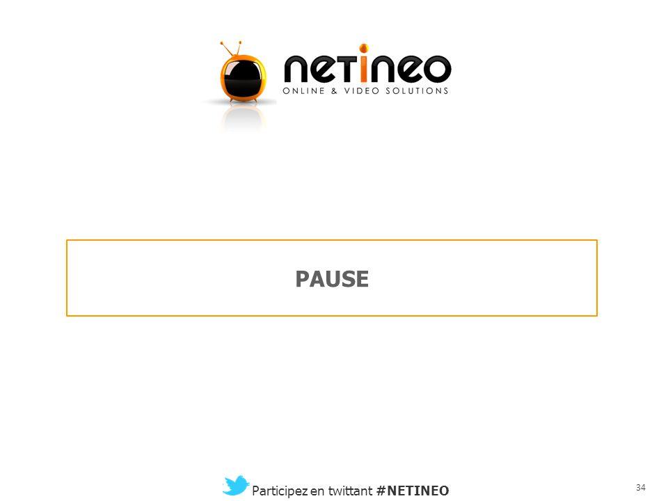 33 Participez en twittant #NETINEO La convergence TV / Vidéo d'accord, mais sur quoi et jusqu'où ? Aline Bonnet Strategy Media Manager Philippe Bosche