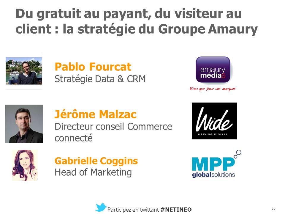 35 Participez en twittant #NETINEO Optimisation et impacts du multi-écrans Philippe de Passario Country Manager France