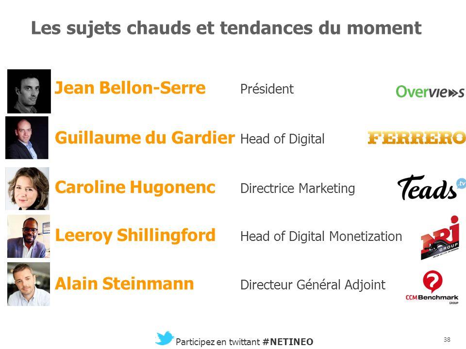 37 Participez en twittant #NETINEO Quand Google change le monde Charlotte Lemaitre Innovation Lead