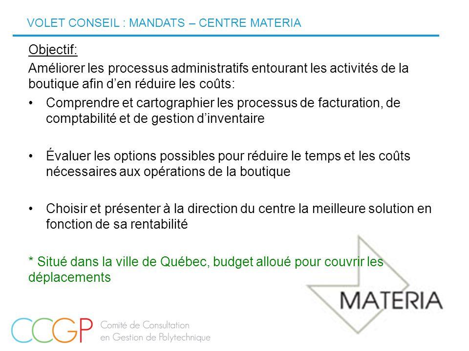 12 Objectif: Améliorer les processus administratifs entourant les activités de la boutique afin d'en réduire les coûts: Comprendre et cartographier le