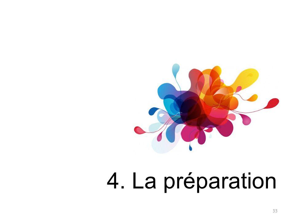 4. La préparation 33