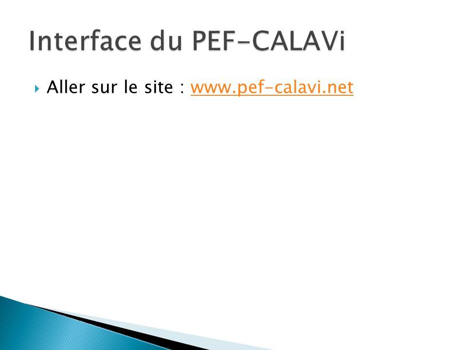  Aller sur le site : www.pef-calavi.netwww.pef-calavi.net