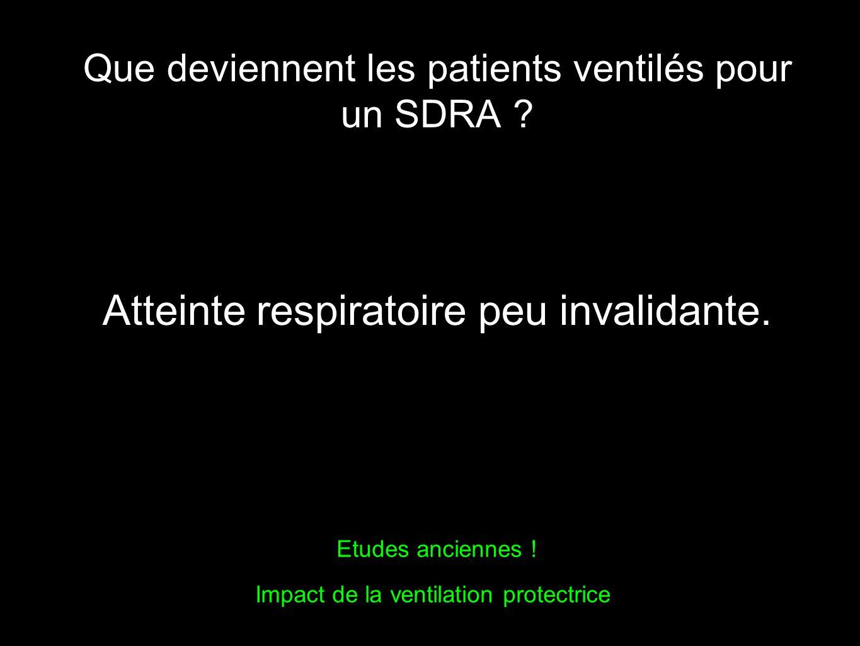 Que deviennent les patients ventilés pour un SDRA .