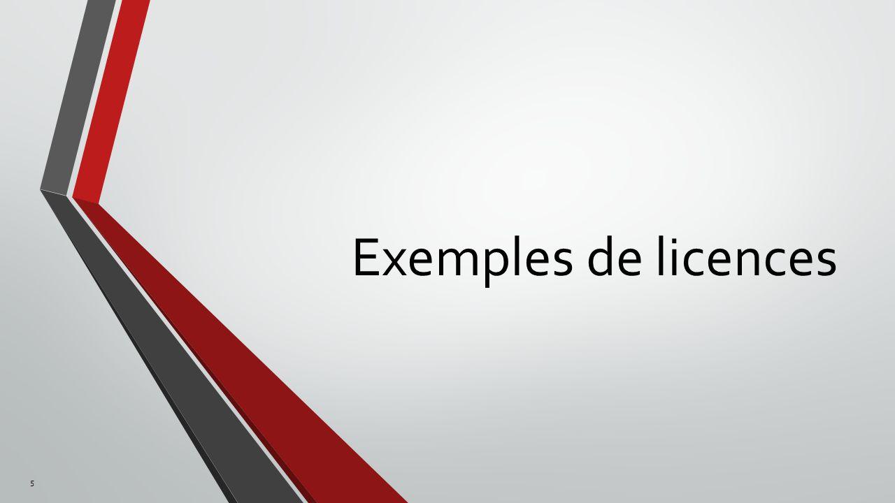 Exemples de licences 5