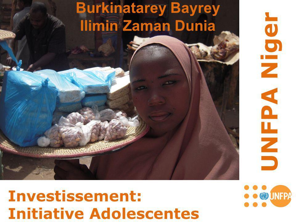 UNFPA Niger Investissement: Initiative Adolescentes Burkinatarey Bayrey Ilimin Zaman Dunia