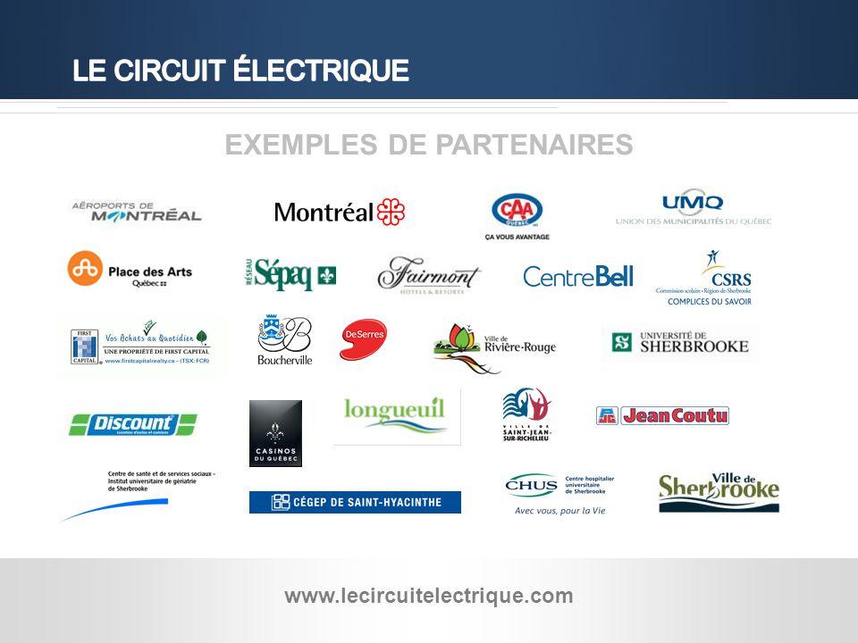 Hydro-Québec - 13 EXEMPLES DE PARTENAIRES www.lecircuitelectrique.com