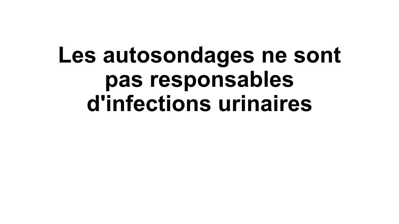 Les autosondages ne sont pas responsables d'infections urinaires