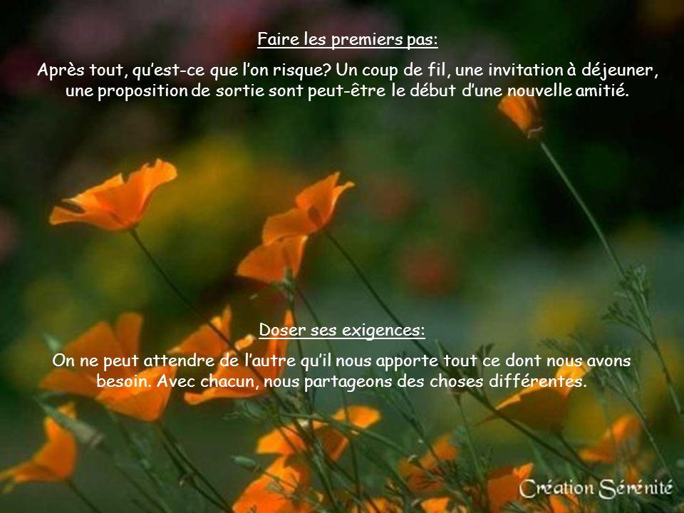 LES 15 CLÉS DE L'AMITIÉ Cliquez pour débuter