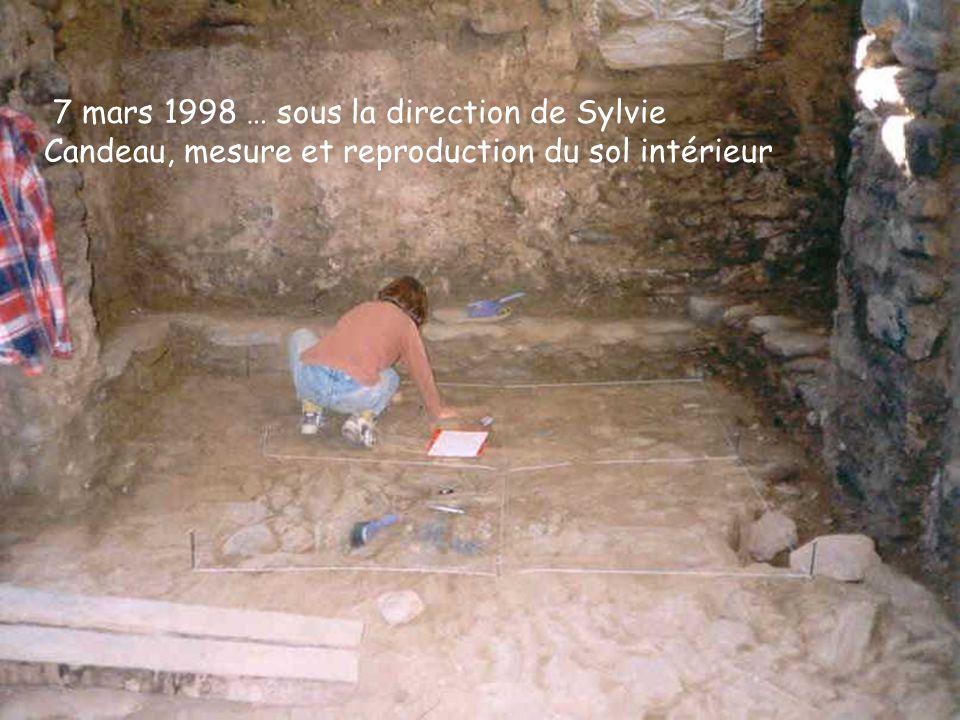 7 mars 1998 … sous la direction de Sylvie Candeau, mesure et reproduction du sol intérieur
