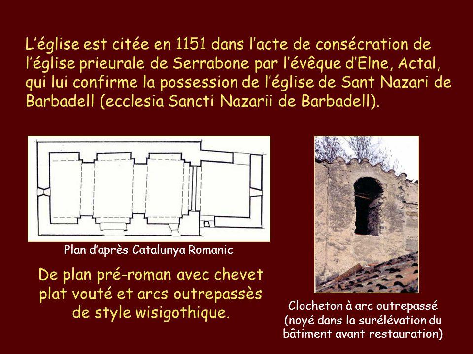 L'église est citée en 1151 dans l'acte de consécration de l'église prieurale de Serrabone par l'évêque d'Elne, Actal, qui lui confirme la possession d
