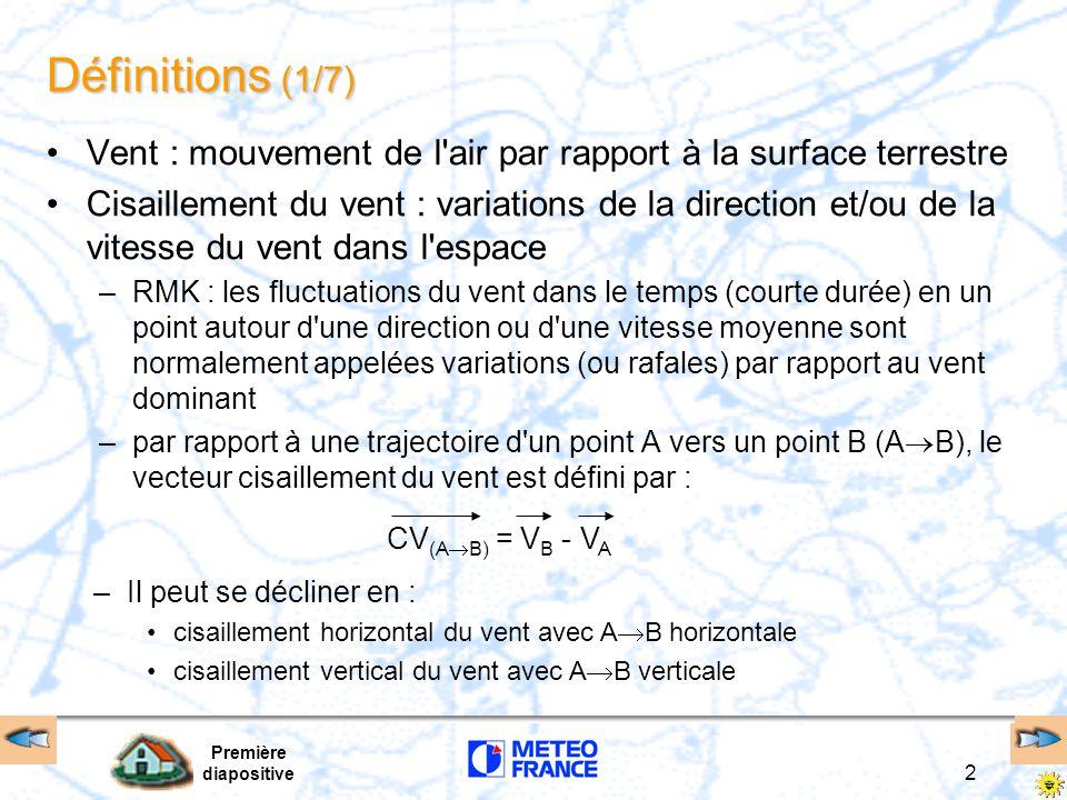 Première diapositive 13 Origines du cisaillement du vent (3/5) Radiatives refroidissement nocturne en plaine brise de pente ou de vallée descendante V Z jet de basses couches