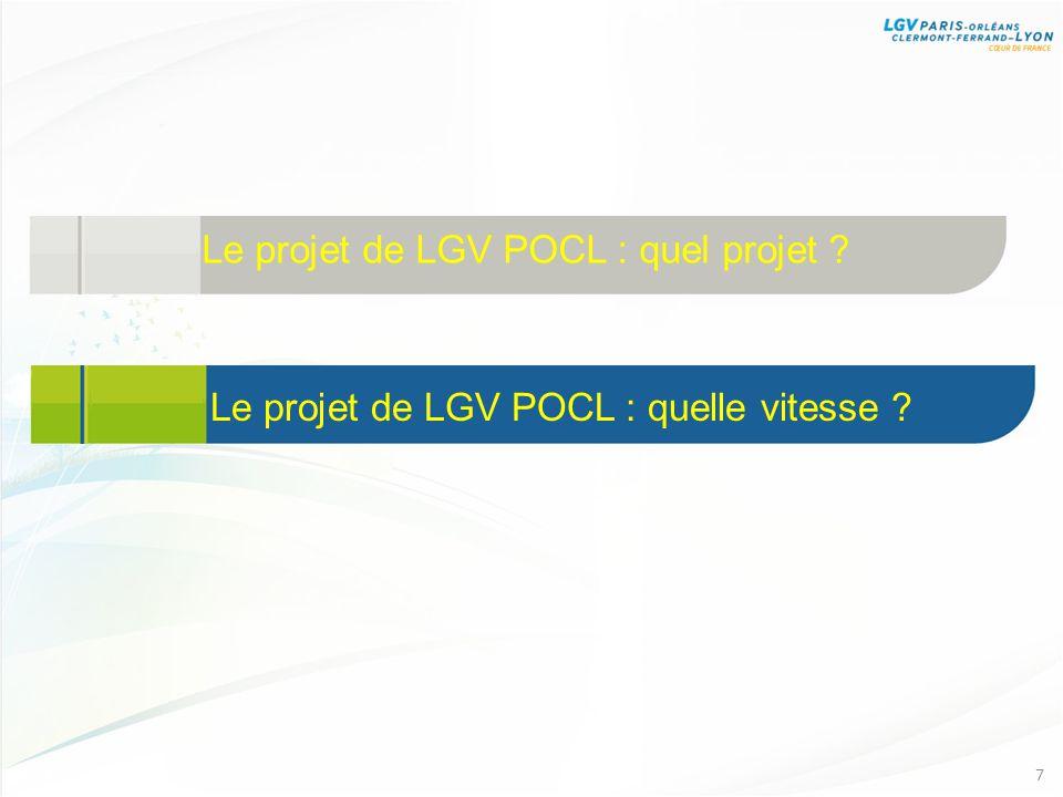 Le projet de LGV POCL : quel projet ? 7 Le projet de LGV POCL : quelle vitesse ?