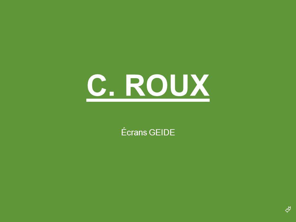 C. ROUX Écrans GEIDE