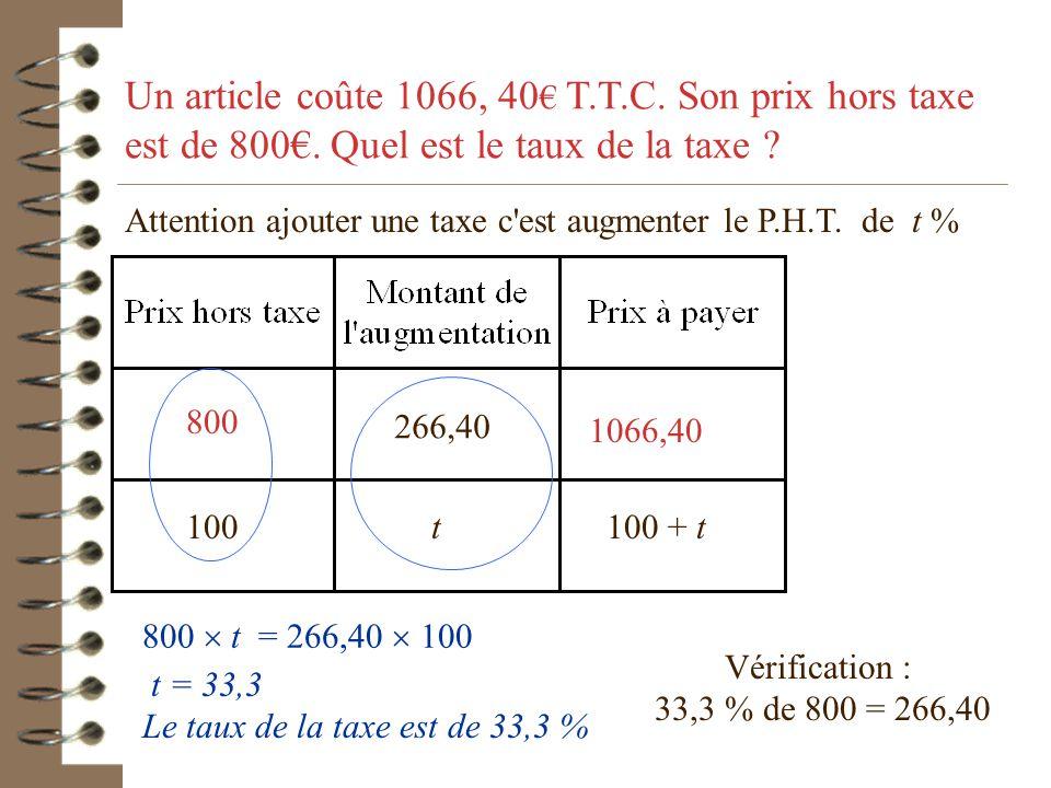 Plusieurs proportions peuvent être utilisées... 786 t = 100 x 22,5 786 22,5763,5 100 t100 - t 786 (100 - t ) = 100 x 763,5 22,5 (100 - t) = 763,5t Tro