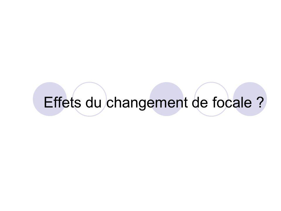 Effets du changement de focale ?