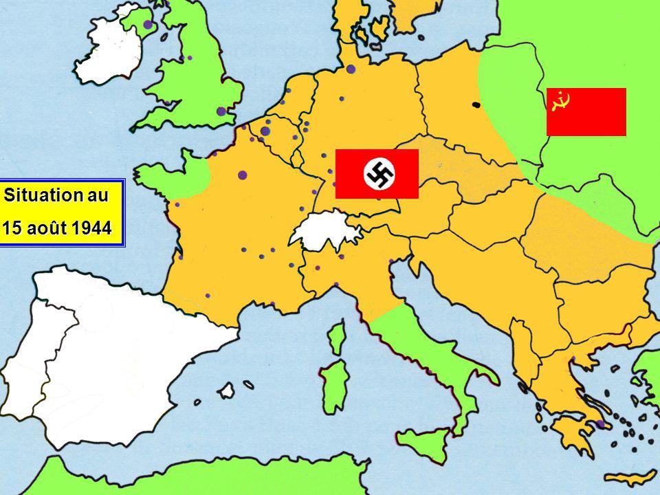 Situation au 15 août 1944