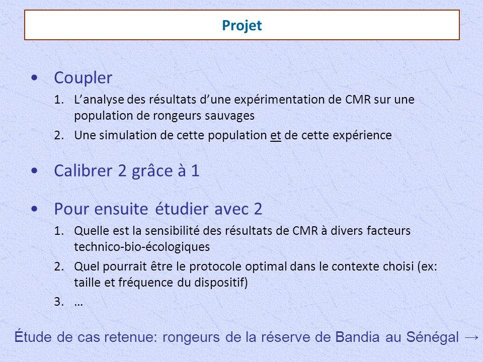 Projet Coupler 1.L'analyse des résultats d'une expérimentation de CMR sur une population de rongeurs sauvages 2.Une simulation de cette population et