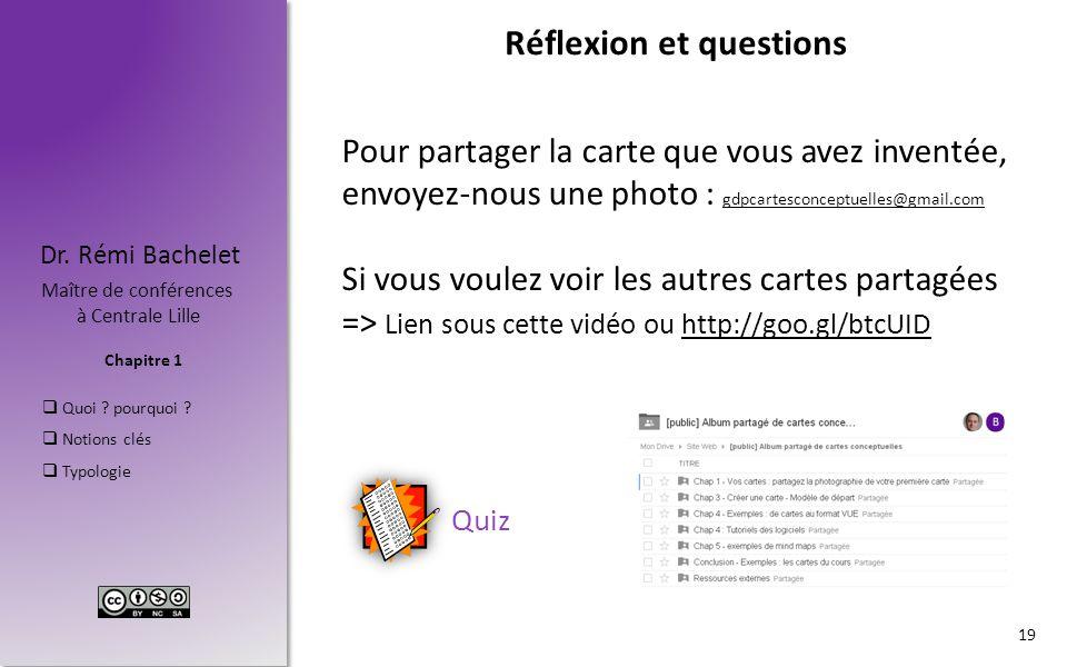Chapitre 1 Dr. Rémi Bachelet Maître de conférences à Centrale Lille  Quoi ? pourquoi ?  Notions clés  Typologie Réflexion et questions 19 Quiz Pour