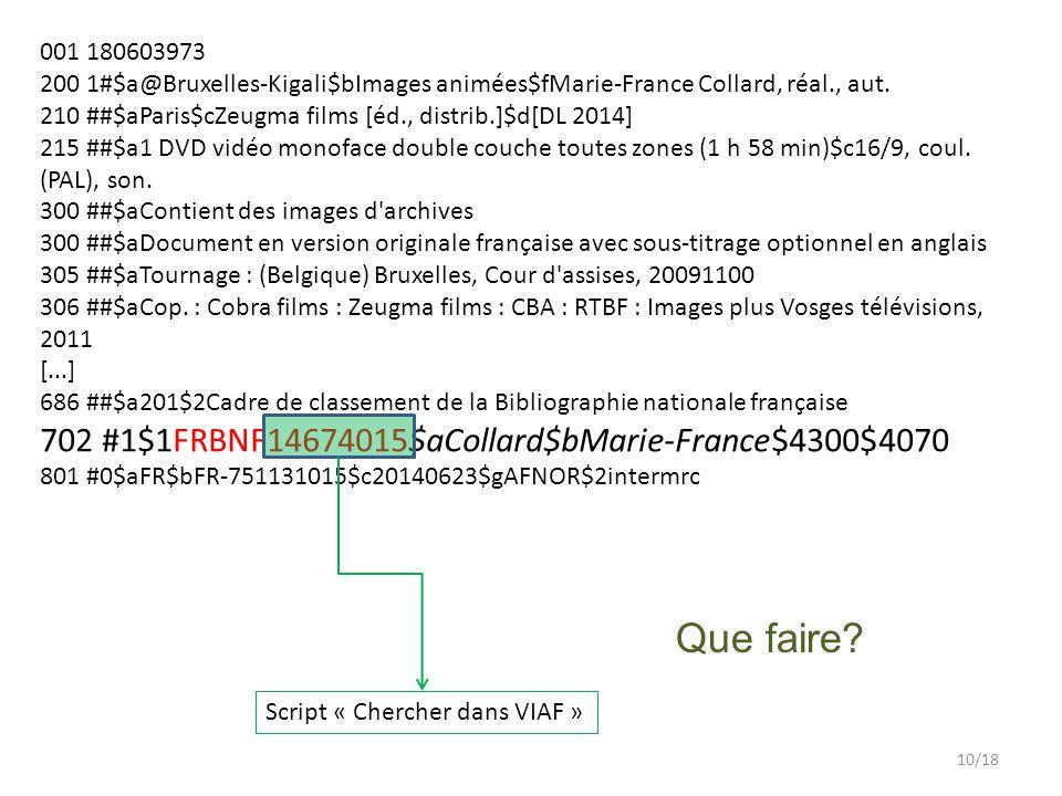 001 180603973 200 1#$a@Bruxelles-Kigali$bImages animées$fMarie-France Collard, réal., aut.