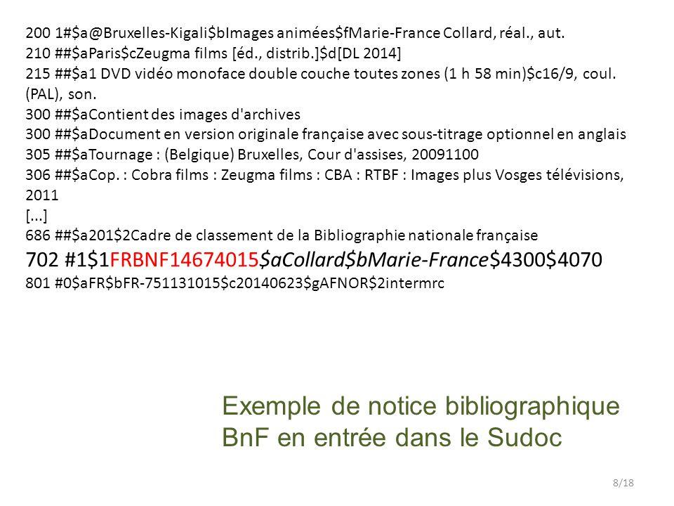 200 1#$a@Bruxelles-Kigali$bImages animées$fMarie-France Collard, réal., aut.