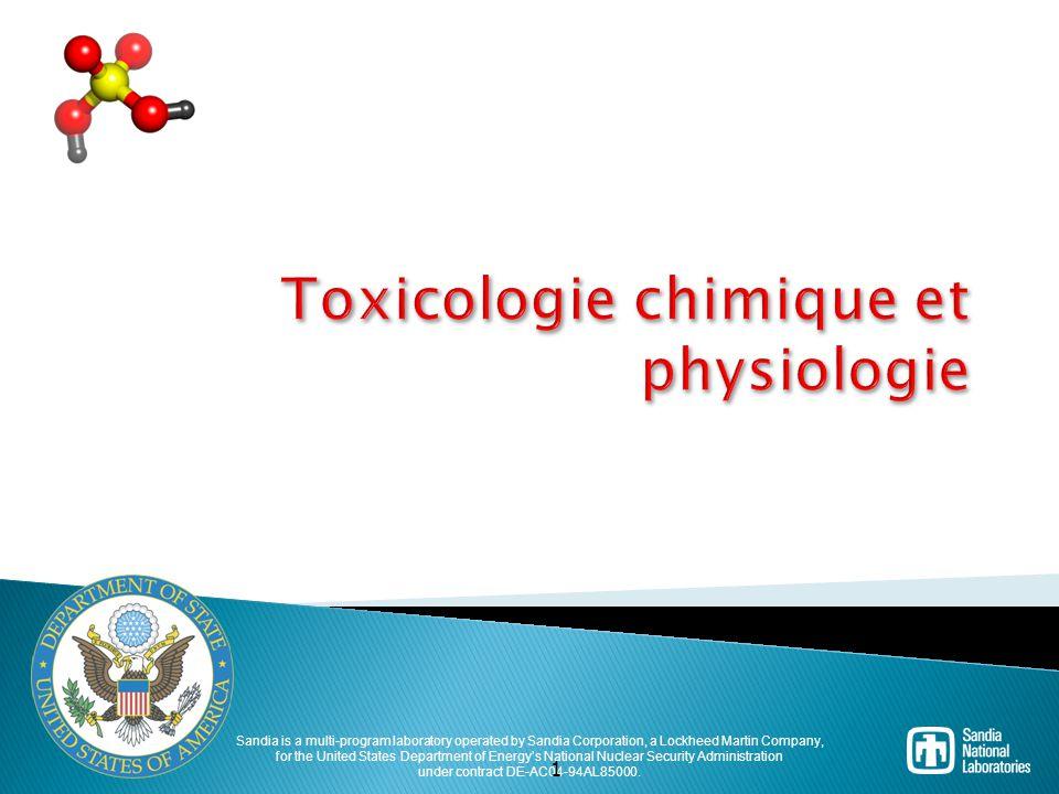 32 Toxicologie des produits chimiques C est l étude de l effet des produits chimiques sur le corps.