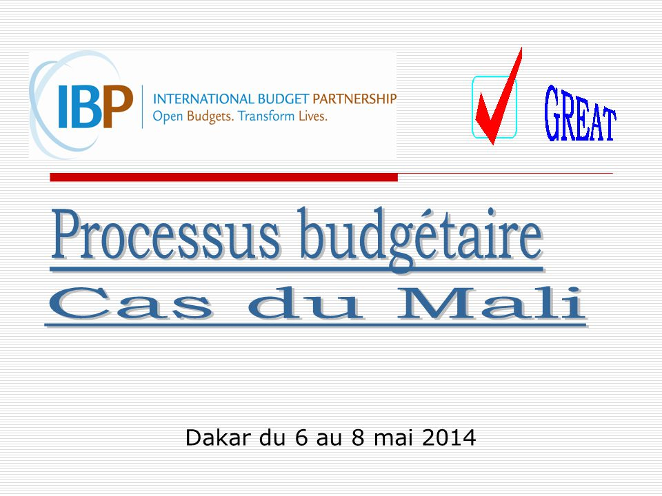 Dakar du 6 au 8 mai 2014