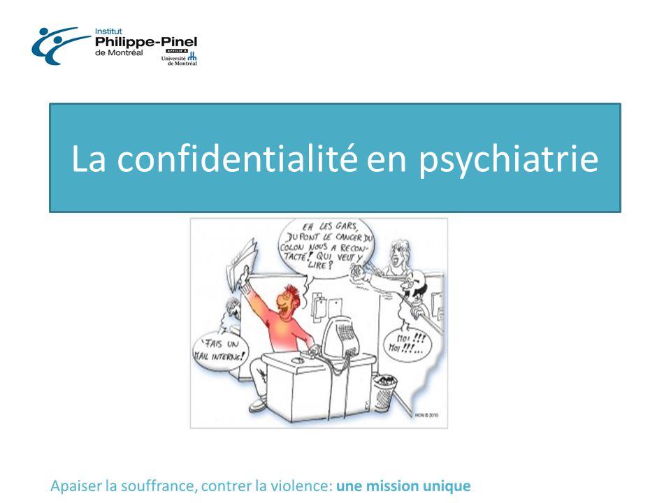 La confidentialité en psychiatrie