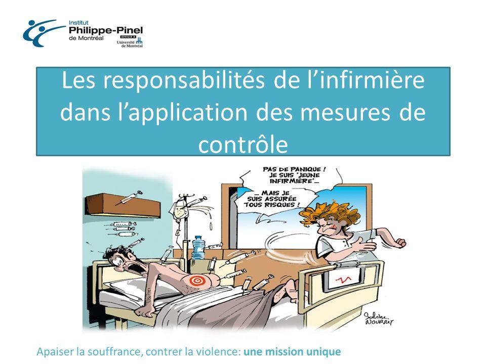 Les responsabilités de l'infirmière dans l'application des mesures de contrôle