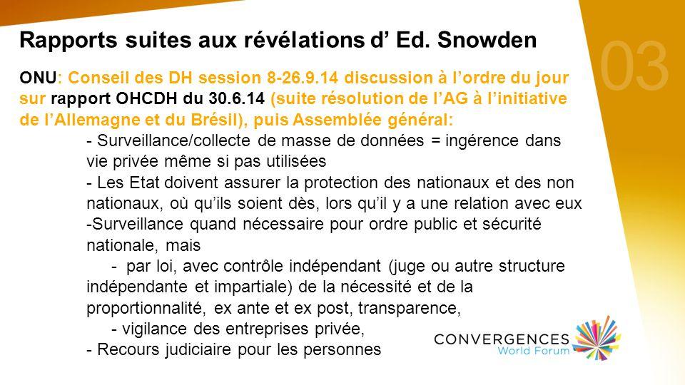 03 Rapports suites aux révélations d' Ed.