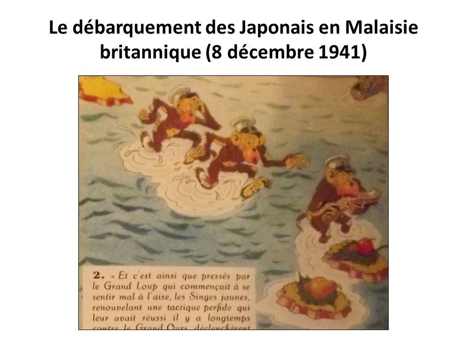 Le débarquement des Japonais en Malaisie britannique (8 décembre 1941)