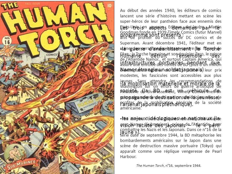 Au début des années 1940, les éditeurs de comics lancent une série d'histoires mettant en scène les super-héros de leur panthéon face aux ennemis des