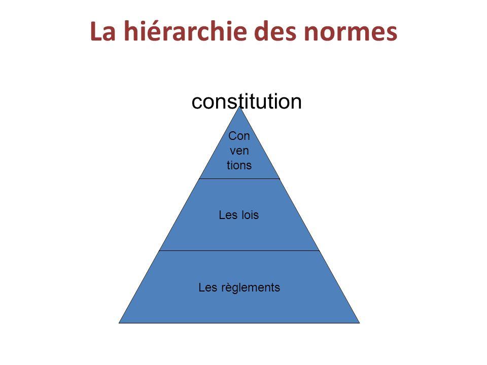 La hiérarchie des normes constitution