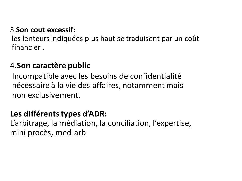 3.Son cout excessif: les lenteurs indiquées plus haut se traduisent par un coût financier. 4.Son caractère public Incompatible avec les besoins de con