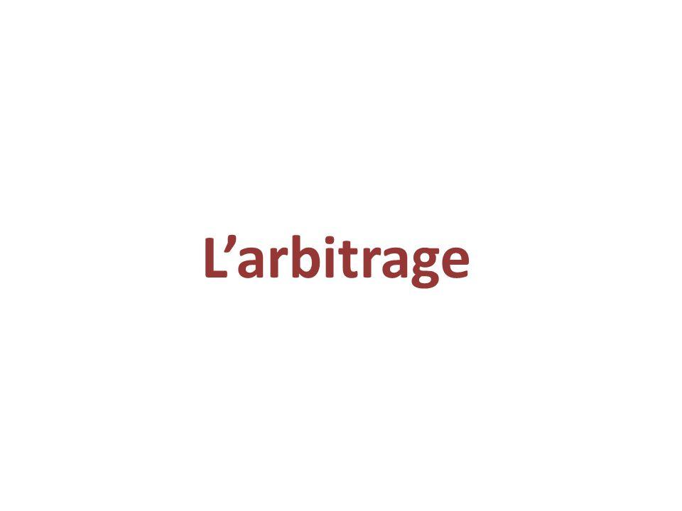 L'arbitrage