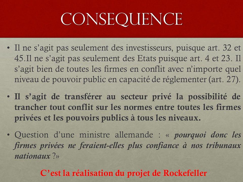 consequence Il ne s'agit pas seulement des investisseurs, puisque art.